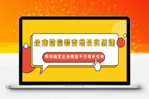 【27期】企业微信裂变增长实战课:带你搞定企业微信千万增长红利,新流量-新玩法