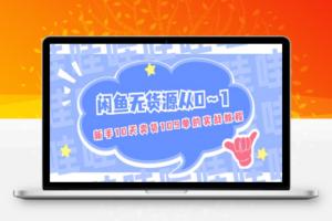 【283期】闲鱼无货源从0~1,新手10天卖货109单的实战教程