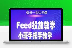 【140期】合仕传媒Feed投放教学,手把手教学,开车烧钱必须自己会!